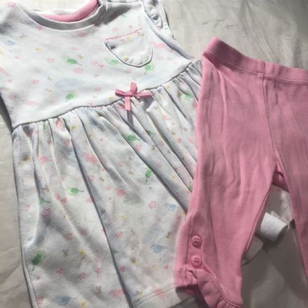 0-3 Month Dress and Leggings